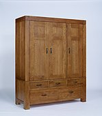 The Santana Rustic Oak Triple Wardrobe