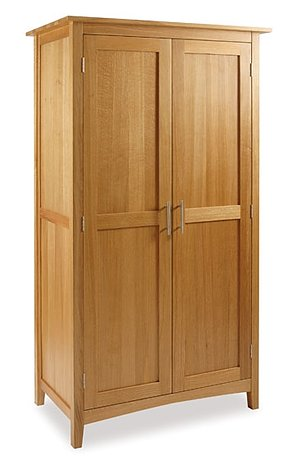 The Hereford Oak Full Length Hanging Wardrobe