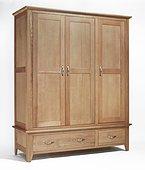 The Sherwood Oak Triple 2 Drawer Wardrobe