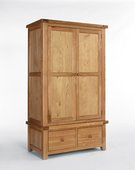 The Devonshire Oak 2 Door 2 Drawer Wardrobe