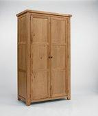 The Devonshire Oak 2 Door Full Length Hanging Wardrobe