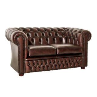 The Windsor Leather 2 Seater Chesterfield Sofa