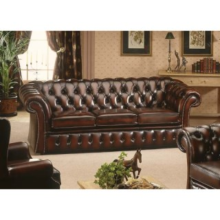 The Gladstone Leather 3 Seater Chesterfield Sofa