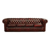 The Clarendon 4 Seater Leather Sofa