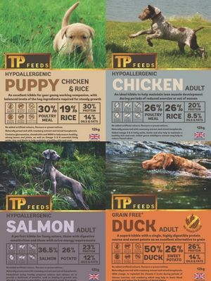 Details of available working dog food at TP Feeds