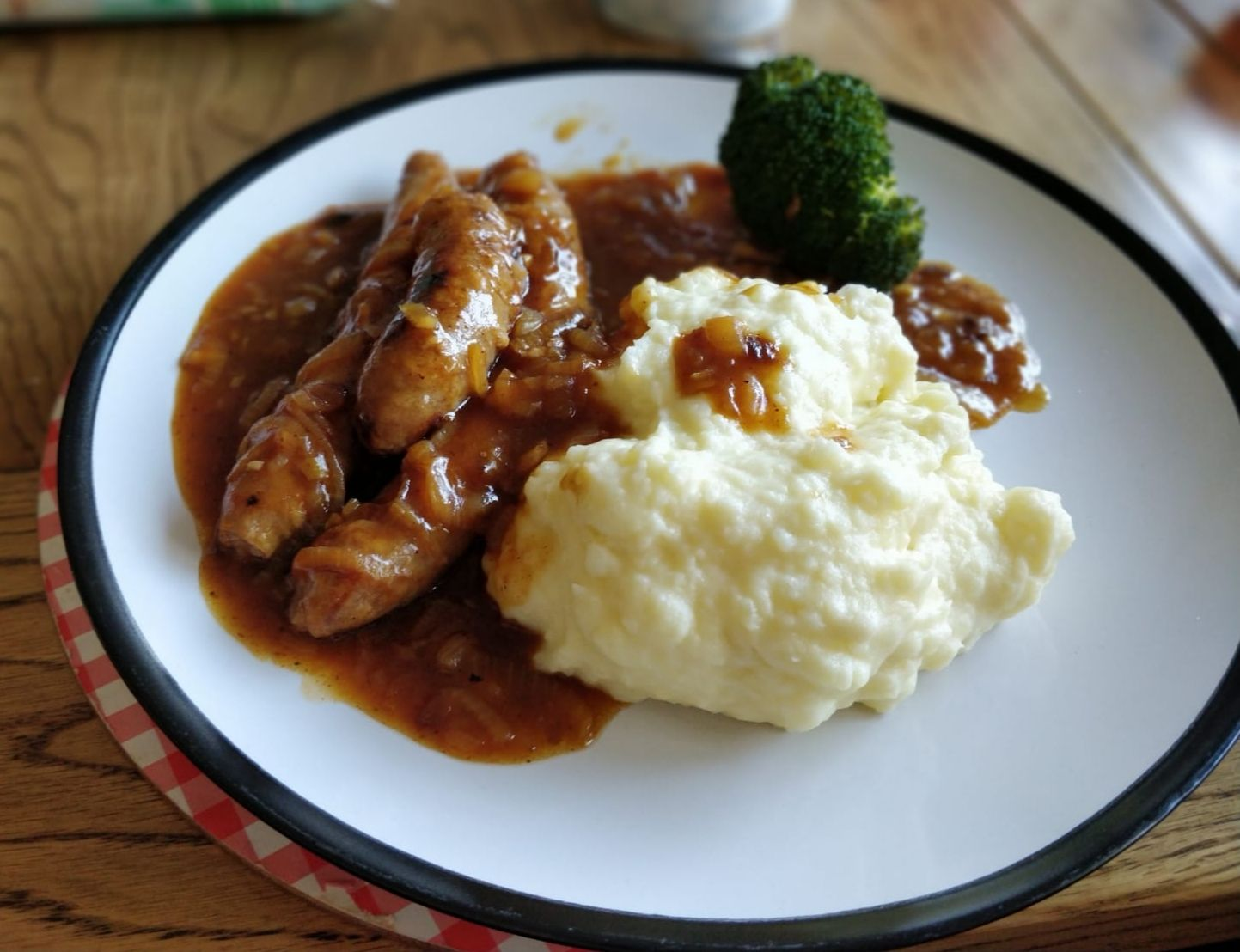 Sausage and mash dish