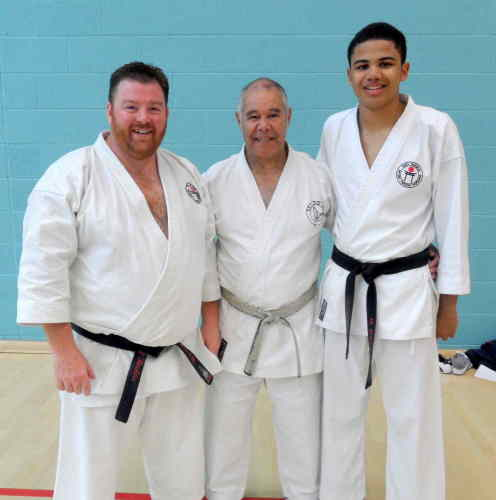 Sensei Higgins with Adam & Sam