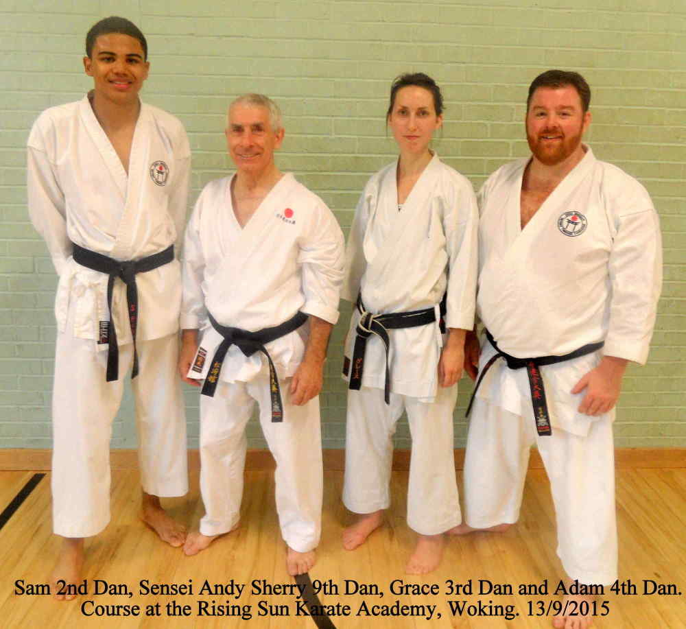 Sensei Sherry Course Woking 2015