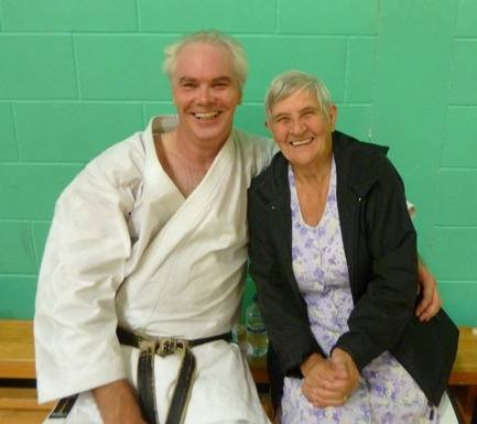 Roy with Chelmsford Chief Instructor Sensei Dot Naylor