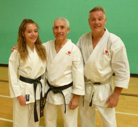 Sensei Pete and his daughter Bethany with Sensei Sherry