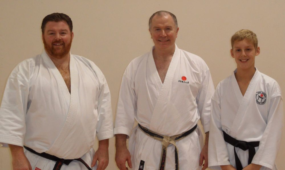 Sensei Frank with Adam & Lee Ipswich 2016