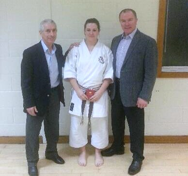 Emma with Sensei Sherry & Sensei Brennan