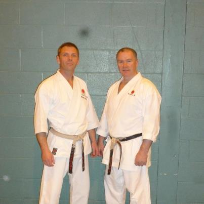Sensei Graham with Sensei Frank Brennan