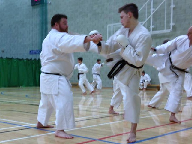 Sensei Adam and England squad member Jack Somers