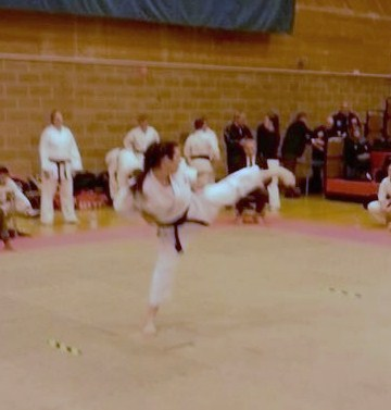 Emma at the 38th Shotokan Cup
