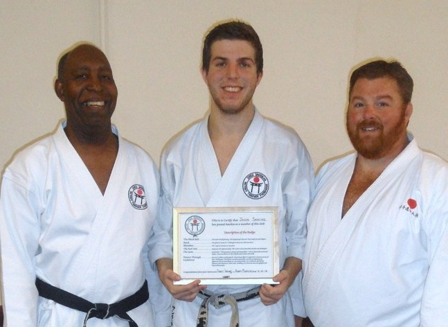 Jason with club certificate
