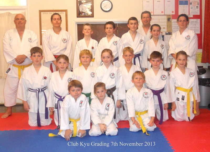 Club Kyu Grading 7 Nov 2013