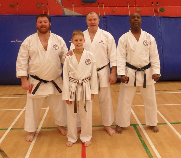 Stock SKC members with Sensei Brennan