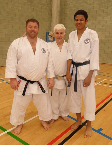 Adam & Samuel with Sensei Rhodes