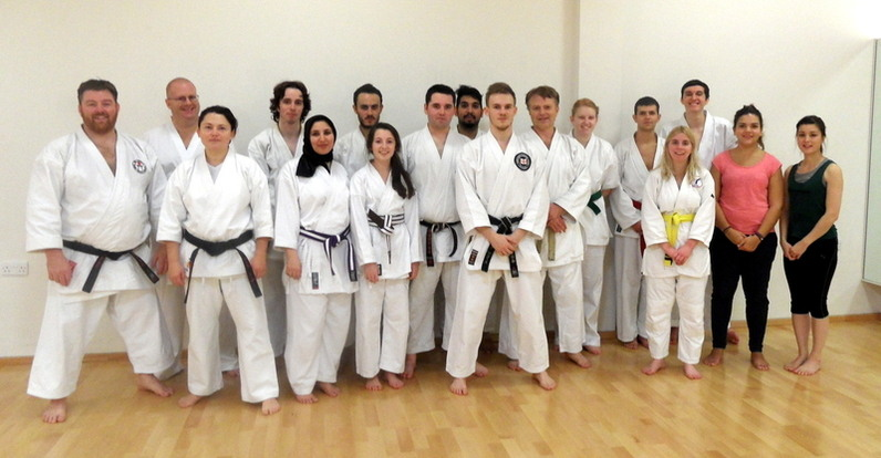 Group Photo with European Kata Champion Jack Somers