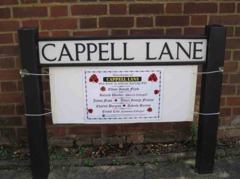 WW1 Cappell Lane