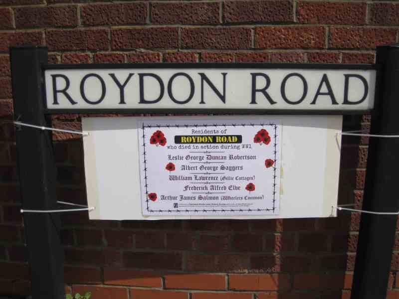 WW1 Roydon Rd