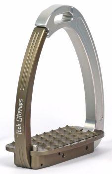Tech Venice Magnetic Safety Stirrups - Silver/Gun Metal Grey (£190.83 Exc VAT & £229.00 Inc VAT)