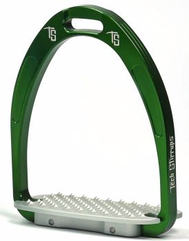 Tech Athena Classic Jumping Stirrups - Green (£107.50 Exc VAT & £129.00 Inc VAT)
