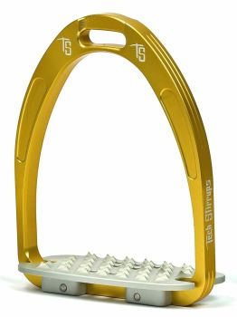 Tech Iris Classic Cross-Country Stirrups - Gold (£107.50 Exc VAT & £129.00 Inc VAT)
