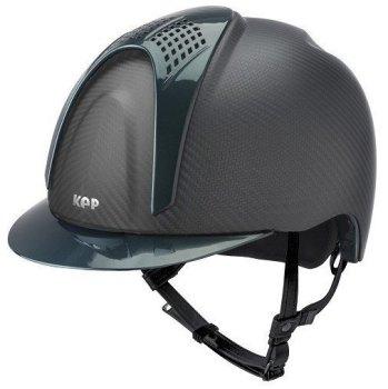 KEP E-Light Carbon Helmet - Matt Carbon With Shiny Green Visor and Vent (£790.83 Exc VAT or £949.00 Inc VAT)