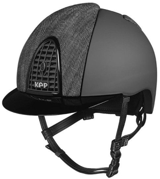 KEP Cromo Textile Black with Black Denim Front and Rear Panels and Shiny Black Visor and Surround (£608.33 Exc VAT or £730.00 Inc VAT)