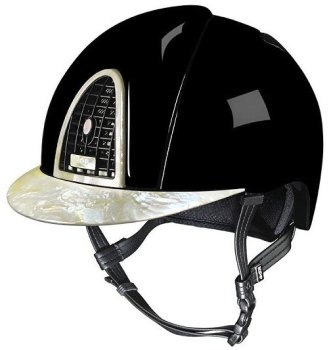 KEP Cromo Polish Black With Mother of Pearl 1 Visor, Surround & Back Vent (£979.17 Exc VAT or £1175.00 Inc VAT