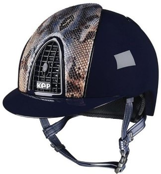 KEP Cromo Polish Blue Vegetal Naif Python, Blue Polished Grill & Vent (£637.50 Exc VAT or £765.00 Inc VAT)