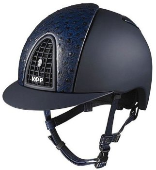 KEP Cromo Textile Blue With Blue Ostrich Print Leather Vents (£620.83 Exc VAT or £745.00 Inc VAT)