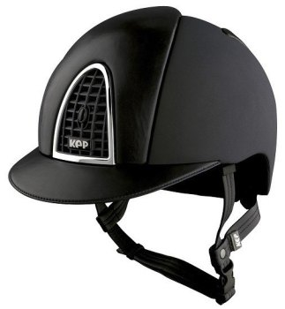 KEP Cromo Textile Black With Black Leather Visor & Vent (£629.17 Exc VAT or £755.00 Inc VAT)