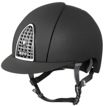 KEP Cromo Mica Helmet - Black Shell - Chrome Grill & Surround (£387.50 Exc VAT or £465.00 Inc VAT)