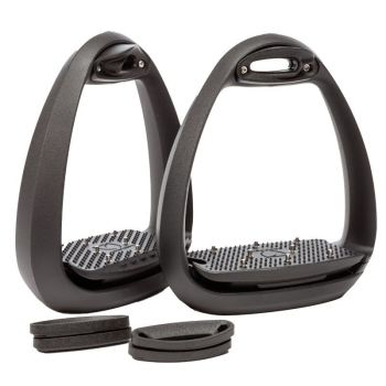 "Kavalkade ""EOLE PRO"" stirrups with spikes - Black (Price Exc VAT £100.00 or £120.00 Inc VAT)"
