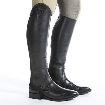 "Kavalkade Smooth Leather ""Alessia"" Half Chaps - Black Leather (Price Exc VAT £82.50 or £99.00 Inc VAT)"