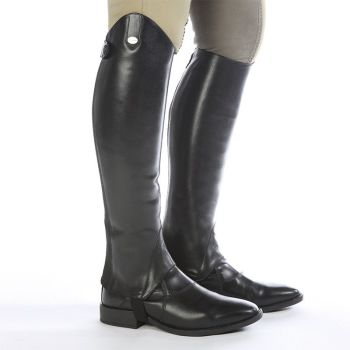 "Kavalkade Smooth Leather ""Aurora"" Half Chaps - Black Leather (Price £81.25 Exc VAT or £97.50 Inc VAT)"