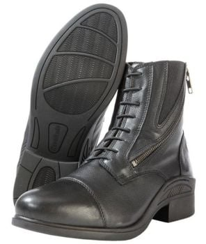 "Kavalkade ""Meridius"" Lace Up Look Side Zip Boot - Black Leather (Price £74.99 Exc VAT or £89.99 Inc VAT)"