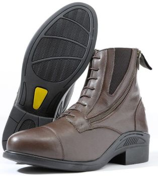 "Kavalkade ""Meridius"" Lace Up Look Side Zip Boot - Brown Leather (Price £74.99 Exc VAT or £89.99 Inc VAT)"
