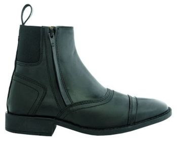 "Kavalkade ""Ecoline"" Jodhpur Boots with Side Zip - Black Leather (Price £52.08 Exc VAT or £62.50 Inc VAT)"