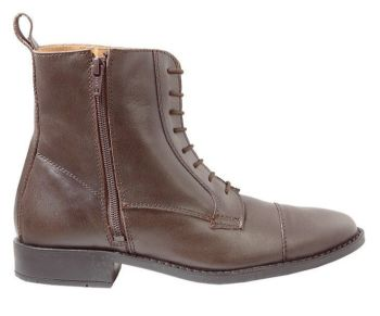 """Kavalkade """"Ecoline"""" Lace up look front with Side Zip - Black or Brown Leather (Price £52.08 Exc VAT or £62.50 Inc VAT)"""
