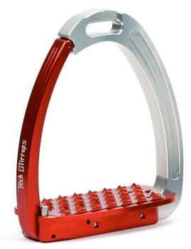 Tech Venice Light Safety Stirrups - Silver Red (£257.50 Exc VAT & £309.00 Inc VAT)