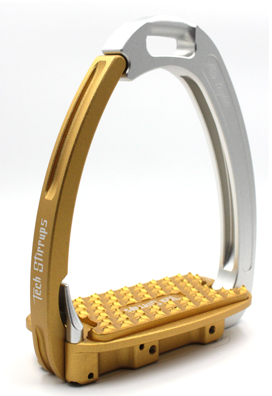 Tech Venice Light Safety Stirrups - Silver Gold (£257.50 Exc VAT & £309.00