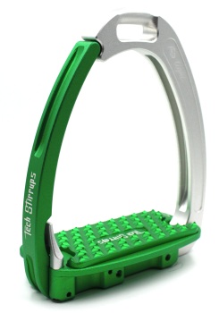 Tech Venice Light Safety Stirrups - Silver Green (£257.50 Exc VAT & £309.00 Inc VAT)