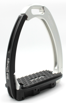Tech Venice Light Safety Stirrups - Silver Black (£257.50 Exc VAT & £309.00 Inc VAT)