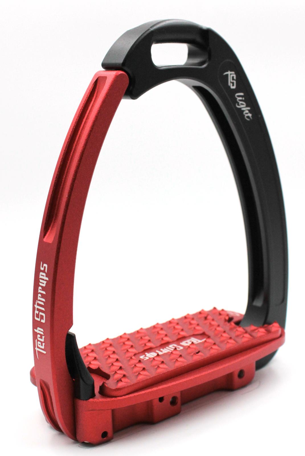 Tech Venice Light Safety Stirrups - Black Red (£257.50 Exc VAT & £309.00 In