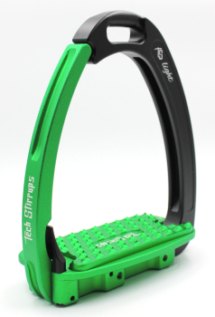 Tech Venice Light Safety Stirrups - Black Green (£257.50 Exc VAT & £309.00 Inc VAT)