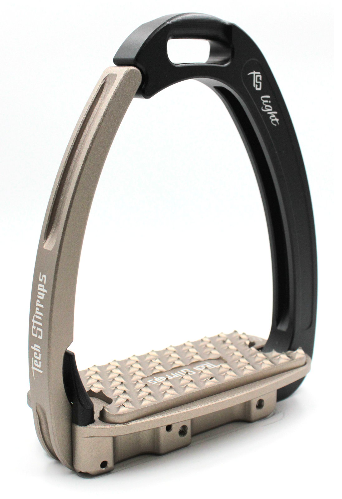 Tech Venice Light Safety Stirrups - Black Brown (£257.50 Exc VAT & £309.00